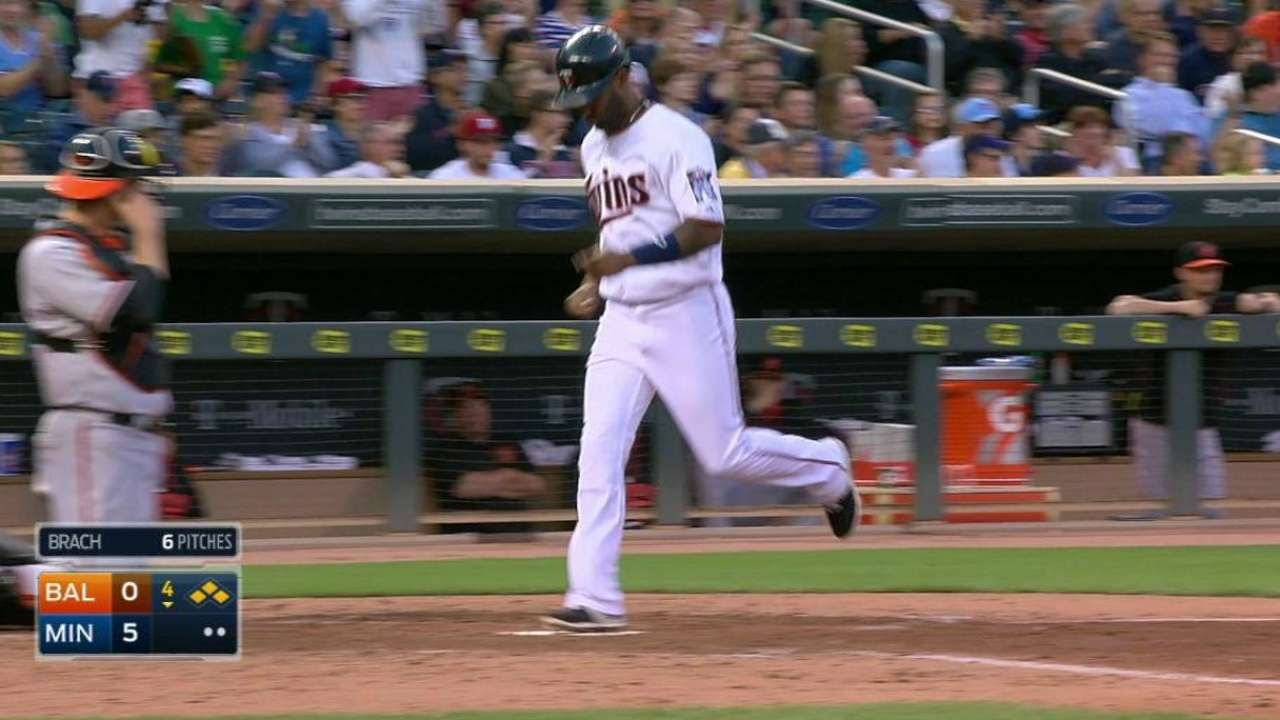 BAL@MIN: Sano shows patience with bases-loaded walk