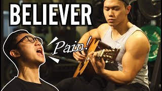 Download Lagu 【在健身房飆歌】BELIEVER -Imagine Dragons-GYM STYLE -Guy Cover|健人劇場|2018ep11 Gratis STAFABAND
