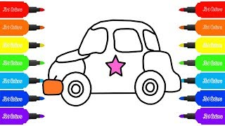 How to Draw Car | Baby Car Coloring Pages | Learn Coloring for Baby