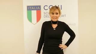 """Diana Bianchedi al """"Corso di Alta Specializzazione in Management Olimpico""""."""
