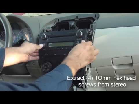 how to remove factory stereo 2009 and up toyota corolla