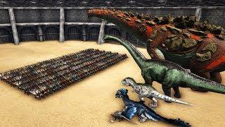 300 PASSIVE Kentrosaurus VS ARK Dinosaurs || Cantex