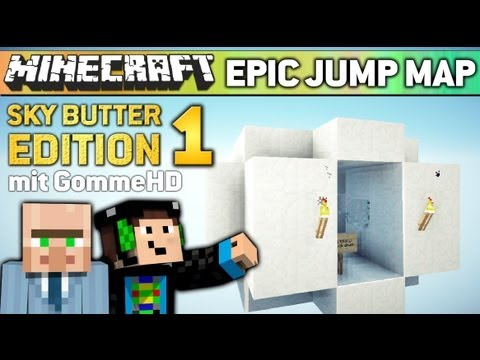 Minecraft EPIC JUMP MAP #1 - GommeHD der Failer! (SkyDoesMinecraft Butter Edition)
