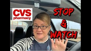 CVS STOP ✋ AND WATCH VIDEO | CRT ISSUES & NEW DEALS STARTING 3/31!