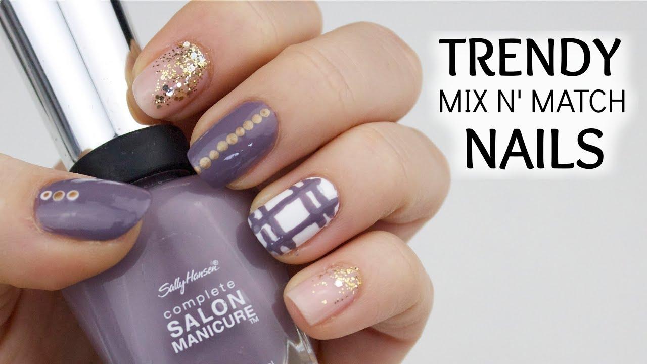 Trendy Mix Match Nails