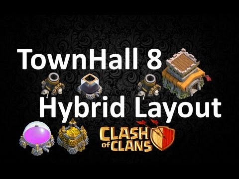 Clash Of Clans - TownHall 8 Hybrid Base Layout