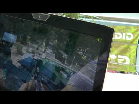 Asus VX7 Lamborghini. Hands On & in DIRT 3 & Crysis 2
