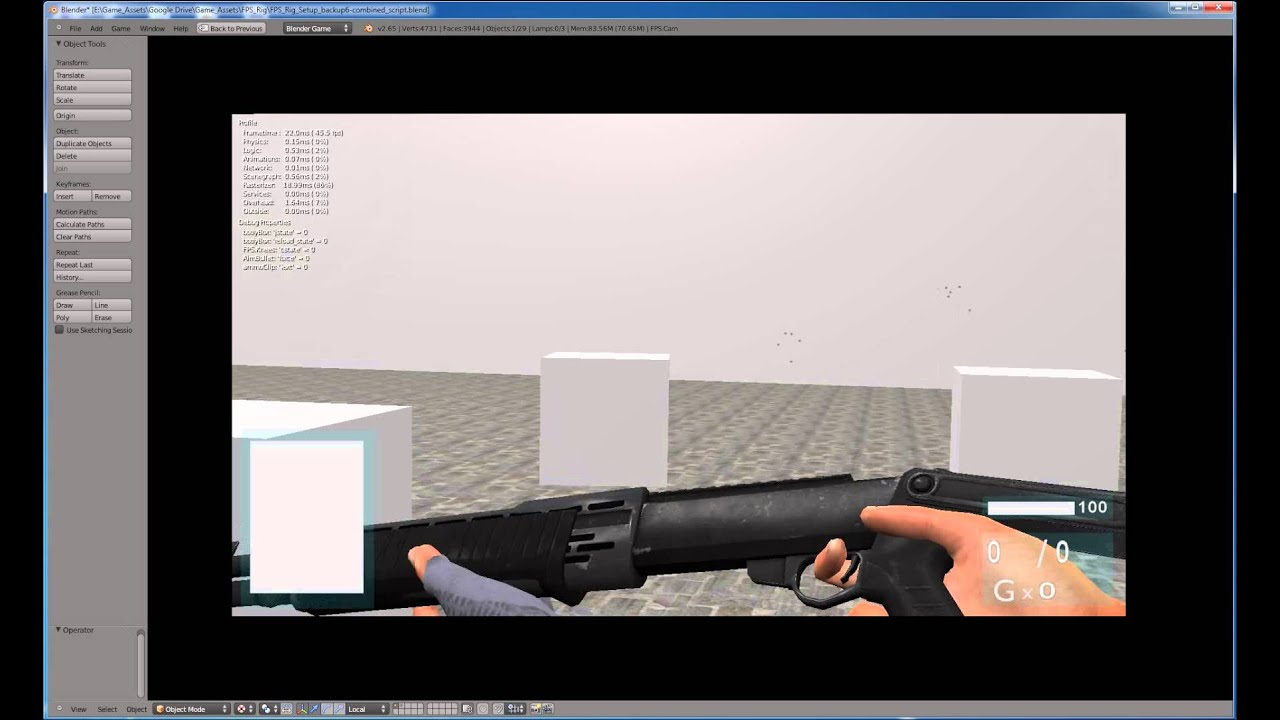 Blender GE 2.6 FPS Tutorial - Python Intermediate - YouTube