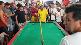 Maicon X Cobrinha, super jogão de sinuca no Camp nou março/2019, VÍDEO 01