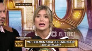 Laurita Fernández aclara cuando estuvo desnuda en el camarín de El Tirri