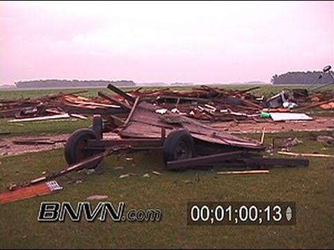 7/14/2003 Southern MN Tornado Outbreak. Storm Damage Video