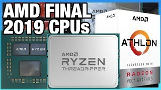News: AMD 3950X, Athlon 3000G, & Threadripper 3970X, 3960X Release, Specs, & Price