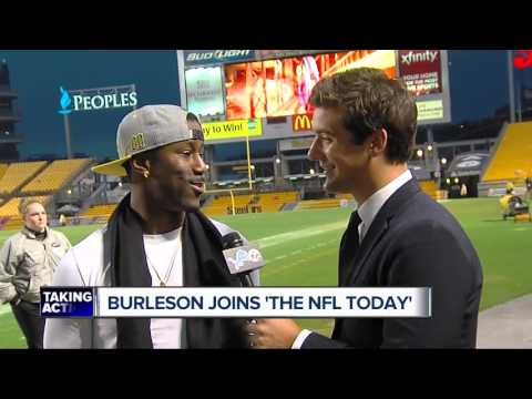 Former Lions WR Nate Burleson joins CBS pregame show 'The NFL Today'
