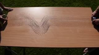 P and S waves on a slinky