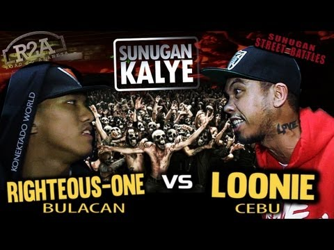 SUNUGAN KALYE - LOONIE vs RIGHTEOUS ONE (promo battle)