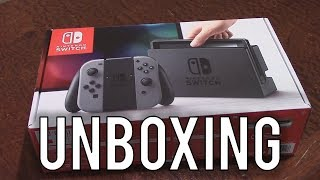 Nintendo Switch Unboxing (Gray, 32GB)