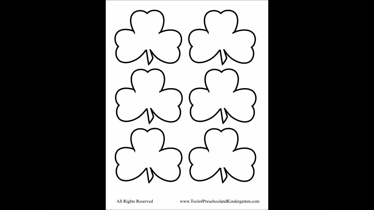 ... hat template four leaf clover writing template four leaf clover