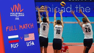 Russia v USA - Full Match - Final Round Pool B | Men's VNL 2018