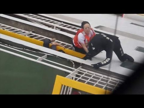 South Korea Ferry Sinking: Coastguard Video Of Rescue Operation