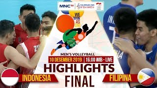 FINAL!! INDONESIA VS FILIPINA (3-0) | Highlights Men's Volleyball | SEA GAMES 2019