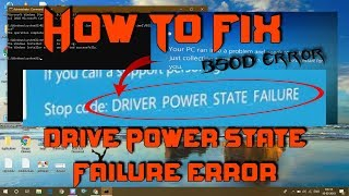 How To Fix Drive Power State  Failure Error In Windows 10 | How To Fix BSOD Error [2019]