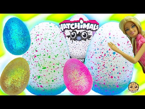 Hatchimals Baby Giant Interactive Eggs that Hatch + Surprise Blind Bag Egg with Barbie
