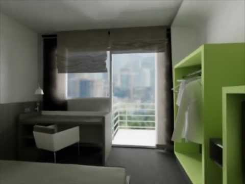 Interior of the business hotel room student concept for Business hotel design