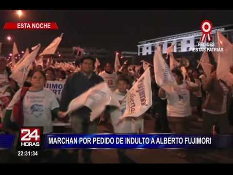 Alberto Fujimori: simpatizantes marcharon pidiendo su libertad