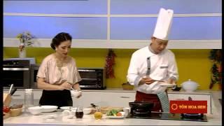 Cách làm món Cá chẽm chiên rau củ