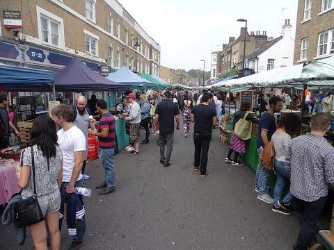 Walking around Broadway Market, Hackney, London - Saturday 6th September 2014
