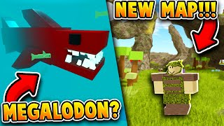 *FIRST LOOK* NEW MAP UPDATE! (+NEW MEGALODON, NEW BOSSES, BIGGER MAP!) Roblox Booga Booga
