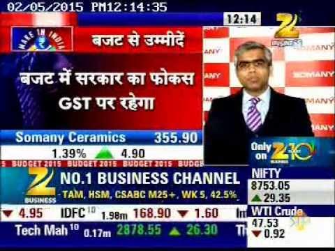 (05 Feb 15) Somany Ceramics - Sensex Strategy Helpline - Zee Business (12:12pm - 4:24mins)