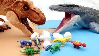 Mosasaurus VS T.Rex | Jurassic World 2 Fallen Kingdom Toy 공룡메카드가 위험해 Toy Movie For Kids~