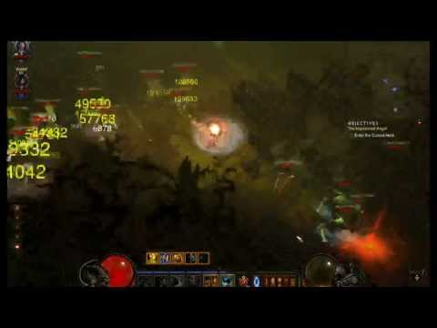 Diablo 3 Barbarian Paragon 62, 200k DPS, 500+ Magic Find, MP7, act 1 key run w/ my bro