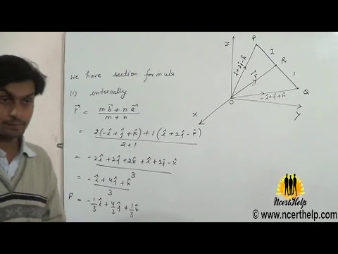 Find position vector of a point which divides the line joining two points internally externally