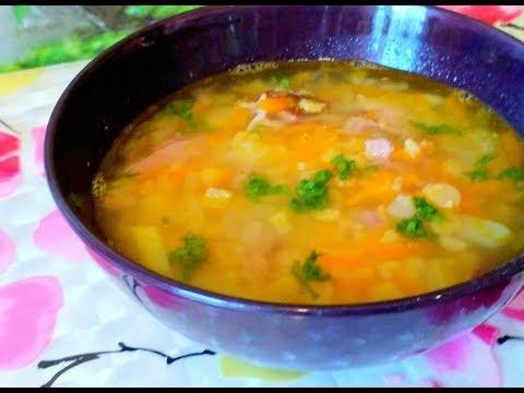 Гороховый суп с копчеными ребрышками. Очень вкусно!