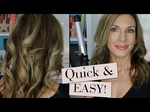 Quick + Easy Beachy Waves with Beachwaver!