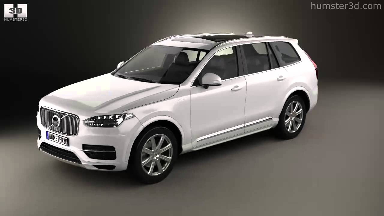 Volvo XC90 T8 2015 by 3D model store Humster3D.com - YouTube
