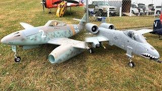 Freewing Messerschmitt Me 262 70mm EDF Jet and Freewing A-10 Thunderbolt II Super Scale 80MM EDF Jet