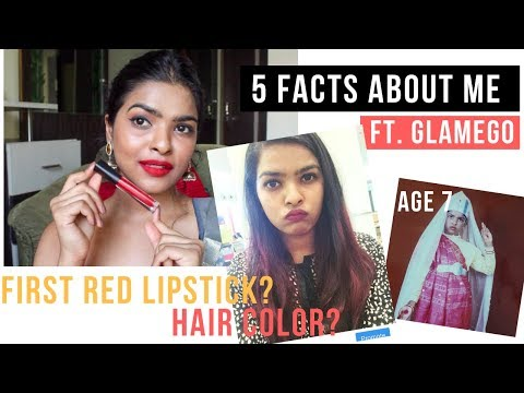 My First Red Lipstick? || 5 Facts About Me ft Glamego November Box 2018