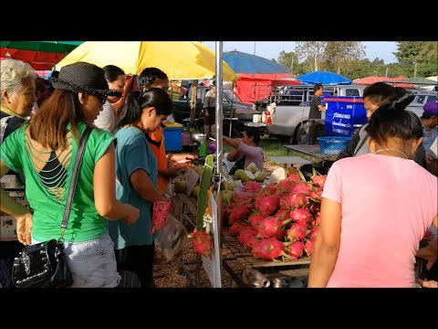 Evening market in ban kham thao market - Asian street food thumbnail