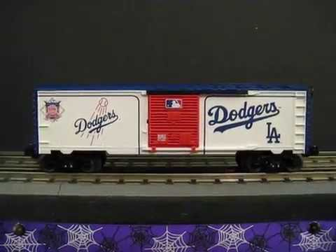 Lionel Train Made in USA 6 81917 MLB Dodgers 0 gauge box car