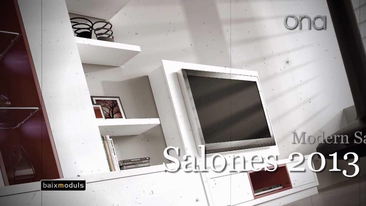 Baixmoduls salones 2013 modernos youtube for Modulos para salones modernos