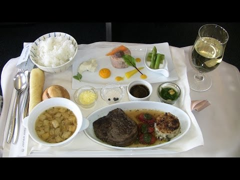 I was hilarity in the business class of JAL (Japan Airlines)【Video of Araigimachan】