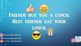 10 FUNNY QUOTES ABOUT FRIENDS | INSTASPIRITUAL | FRIENDSHIP | PSYCHOLOGY