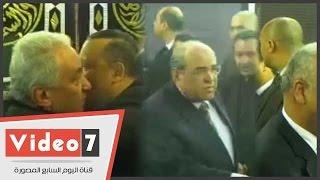 مصطفى بكرى والفقى والهلباوى والسادات وحميدة بعزاء والدة الفضالى