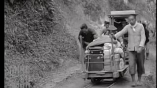 1930年台灣日本時代 角板山 輕便軌道台車影像トロッコ