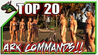 TOP 20 ARK COMMANDS! + SOME YOU DIDNT KNOW EXISTED!
