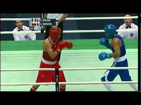 Welter (69kg) SF - Molina (MEX) vs Maestre (VEN) - 2012 American Olympic Qualifying Event
