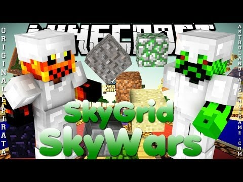 Divulgação de Server Minecraft 1.7.8/1.7.9 SkyWars. SkyGrid [Original e Pirata]